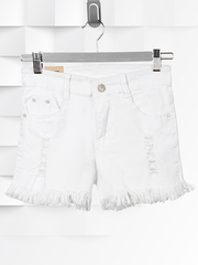 Q-8011 шорты женские, белые
