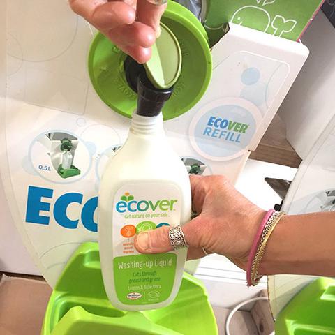 ECOVER RE-Fill Экологическая жидкость для мытья посуды с лимоном и алоэ-вера, 100 мл