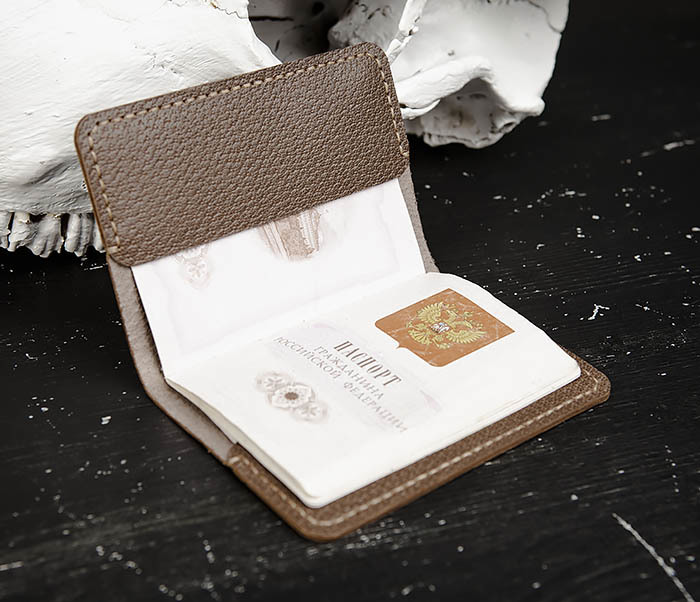 WB174 Мужская обложка на паспорт ручной работы фото 05
