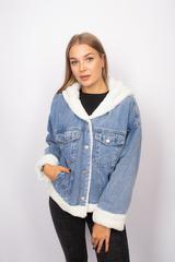 джинсовая куртка с мехом с капюшоном магазин