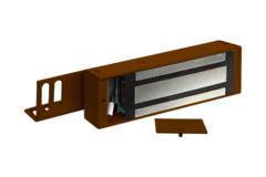 М2-500 Замок электромагнитный с отсеком для контроллера ОЛЕВС (коричневый)