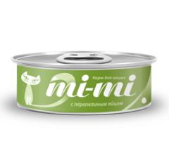 Mi-mi влажный корм для кошек с перепелиным яйцом 0,80 гр.