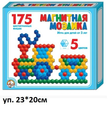 Мозаика 00959 магнитная 175 фишек
