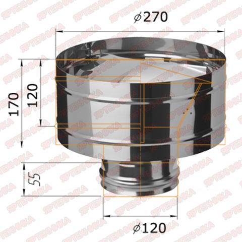 Дефлектор-Д d120мм (430/0,5 мм) Ferrum