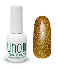 Гель-лак UNO № 110, Золотая пыль, Gold Dust,  12 мл