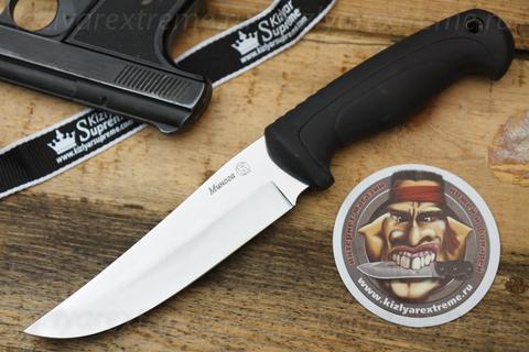 Туристический нож Минога Черный Клинок