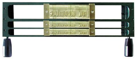 Рамка 1L9 / 2L4 комбинированная из 3 строк (1 строка для шрифта 9 мм, 2 и 3 строки - для шрифта 4 мм)
