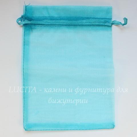 Подарочный мешочек из органзы, цвет - голубой, 18х13 см