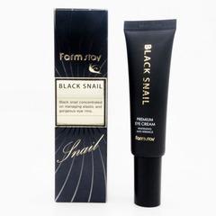 Farmstay Black Snail Premium Eye Cream - Омолаживающий крем для кожи вокруг глаз с муцином черной улитки
