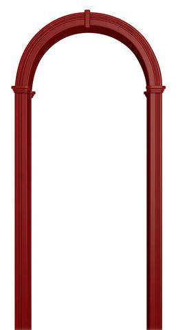 Арка межкомнатная ПВХ Лесма, Валенсия, цвет красный клён
