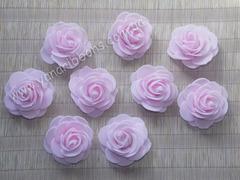 Роза из фоамирана розовая диаметр 4 см