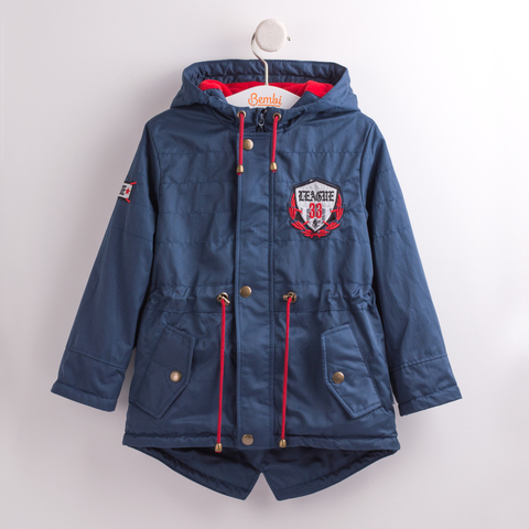 КТ139 Куртка-парка для мальчика утепленная