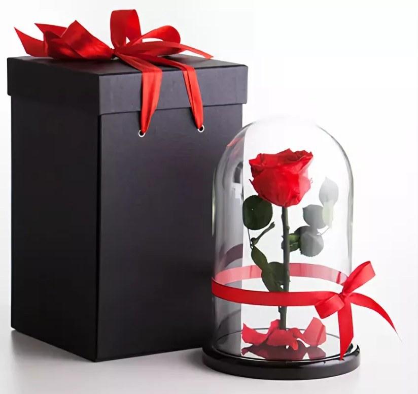 Мы вам доставим розу в подарочной упаковке