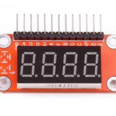 Четырёхразрядный LED-индикатор (общий катод) (Quatro-модуль)