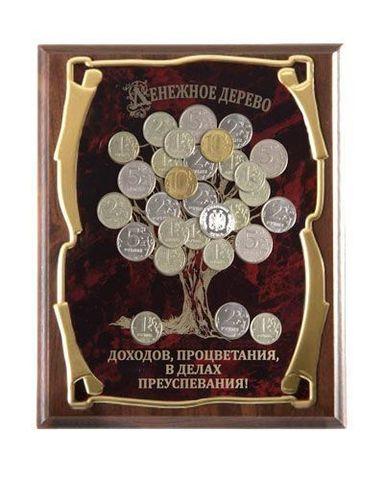 Панно подарочное Денежное дерево Доходов, процветания, в делах преуспевания (