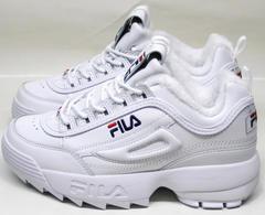 Зимние кроссовки с мехом Fila Disruptor II