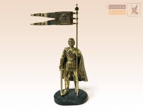 статуэтка Александр Невский со стягом