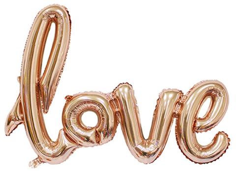 Фольгированная надпись LOVE розовое золото
