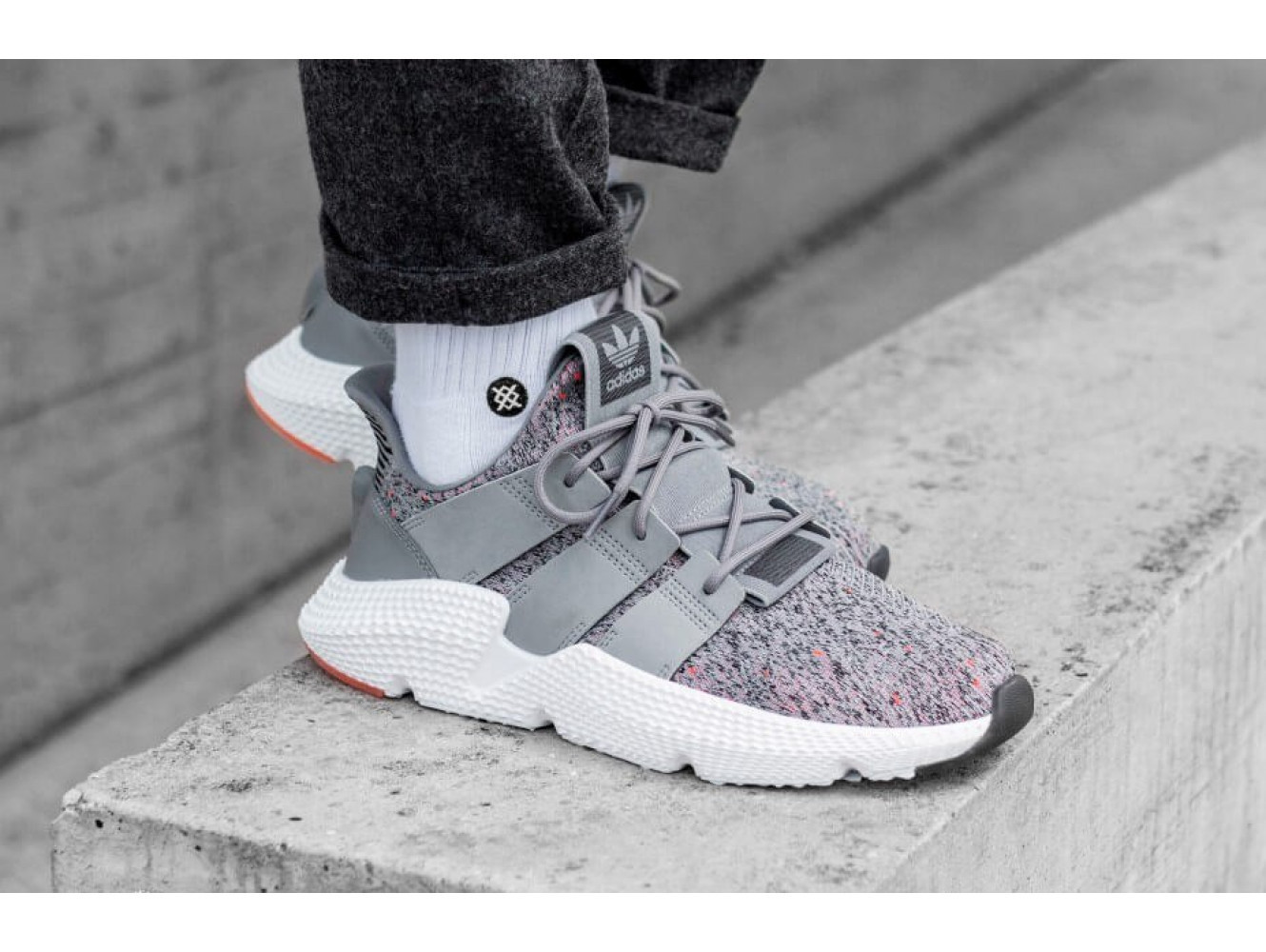 Adidas Prophere Grey/White/Solar Red (003)