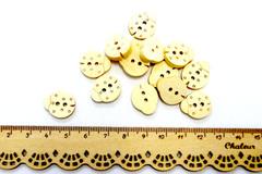 Пуговицы деревянные фигурные, набор.