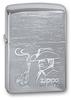 зажигалка zippo 200 since 1932 Зажигалка ZIPPO Cowboy Brushed Chrome латунь/никель-хром (200 COWBOY)