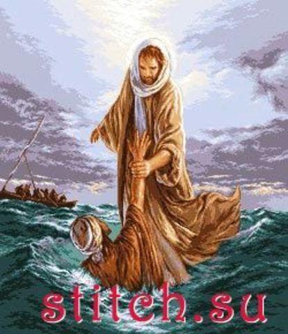G-663 Иисус, спасающий Петра