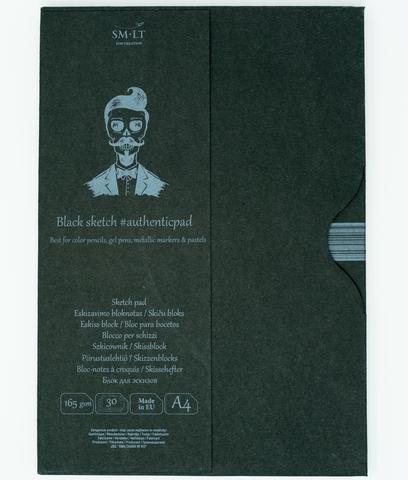 Альбом Authentic Black 165г/м2 A4 30листов в папке склейка по длинной стороне
