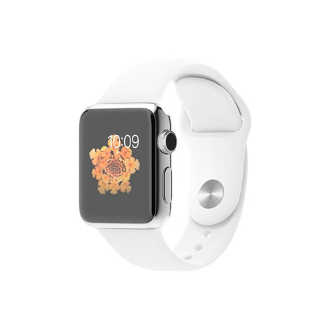 Apple Watch Stainless Steel, White Band