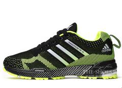 Кроссовки Мужские Adidas Flyknit Marathon Black Green