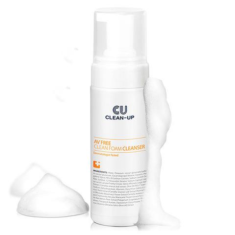 Очищающая пенка для проблемной и чувствительной кожи, 200 мл / CU Skin AV FREE Clean Foam Cleanser