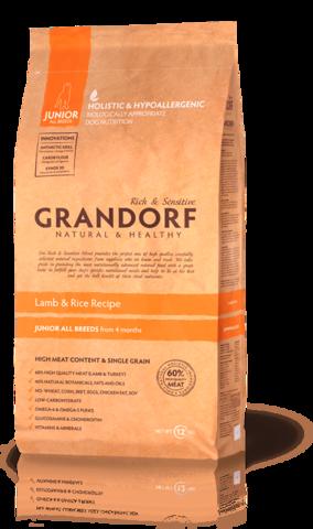 Grandorf Dog Lamb&Rice JUNIOR сухой корм для щенков (ягнёнок с рисом) 12кг