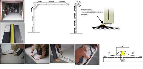 Уплотнитель на пол Weather Step (Россия) комплект 5п.м.