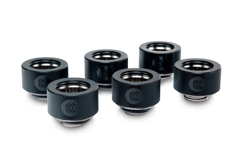 EK-HDC Fitting 16mm - Black (6-pack)
