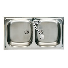 Мойка кухонная с двумя чашами Roca J 7870220801 фото