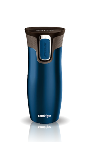 Термокружка Contigo West Loop (0,47 литра), синяя матовая