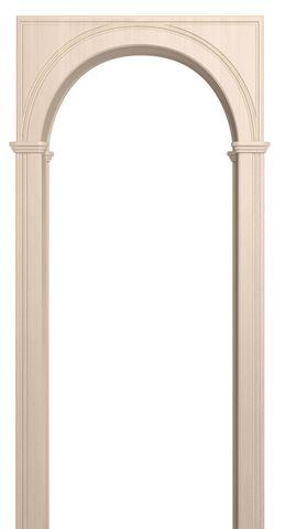 Арка межкомнатная ПВХ Лесма, Палермо, цвет беленый дуб