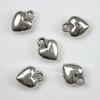 """Подвеска """"Сердечко"""" 12х10 мм (цвет - античное серебро), 5 штук"""