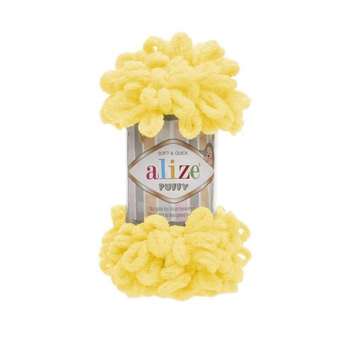 Купить Пряжа Alize Puffy Код цвета 216 Желтый | Интернет-магазин пряжи «Пряха»