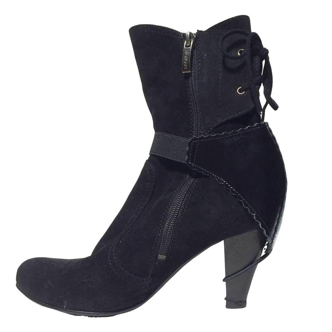 Автопятка для женской обуви с каблуком черная эластичный ремешок