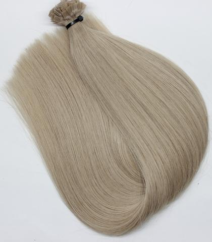 Волосы на кератиновых капсулах цвет  Средний холодный блонд -52 см
