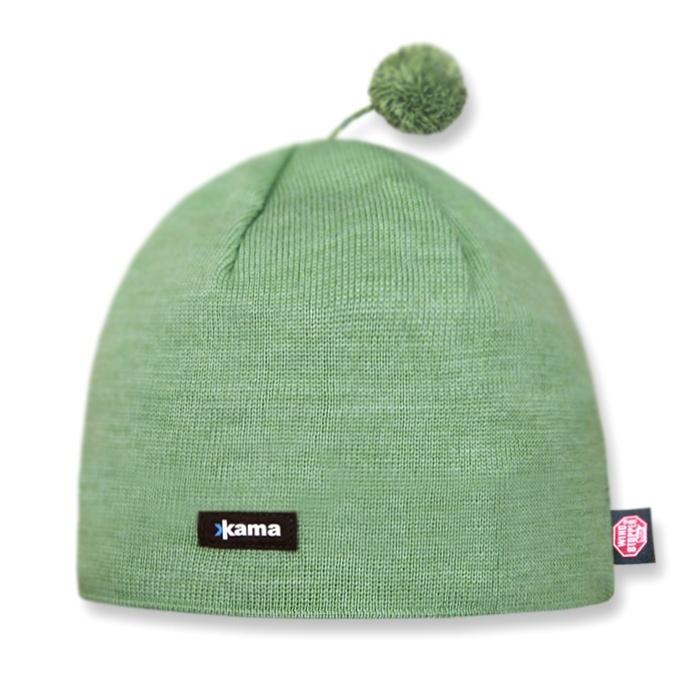 Спортивные шапки Шапка с помпоном непродуваемая Kama Aw46 Lime knitted-hat-kama-aw46-windstopper-default__2_.jpg