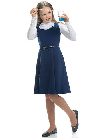 Pelican Школьный сарафан для девочки GDV7032 синий