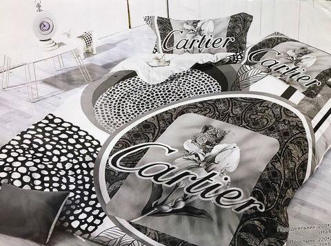 Двуспальное постельное бельё CARTIER 0003