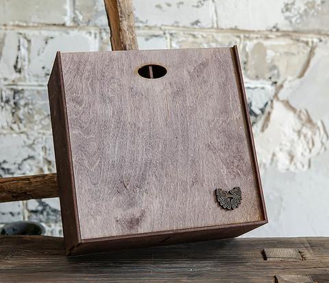 Коробка для подарка с двумя отделениями (25*25*12 см)