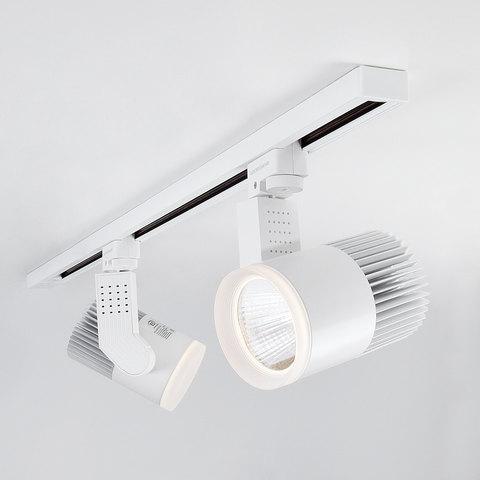 Трековый светодиодный светильник для однофазного шинопровода Accord Белый 20W 3300K LTB17