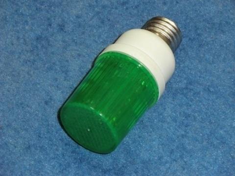 Строб лампа зеленая Е27