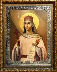 Параскева Пятница Святая мученица. Икона под старину на холсте.