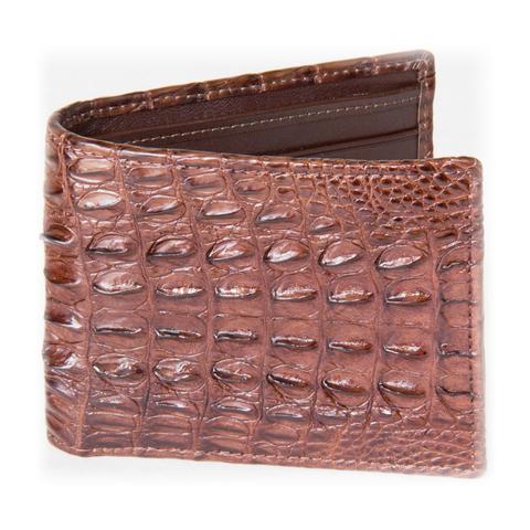 Мужской бумажник из кожи крокодила коричневый WR-302