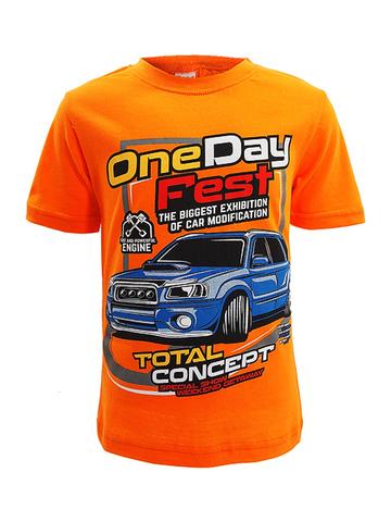 D002-41 футболка для мальчиков, оранжевая