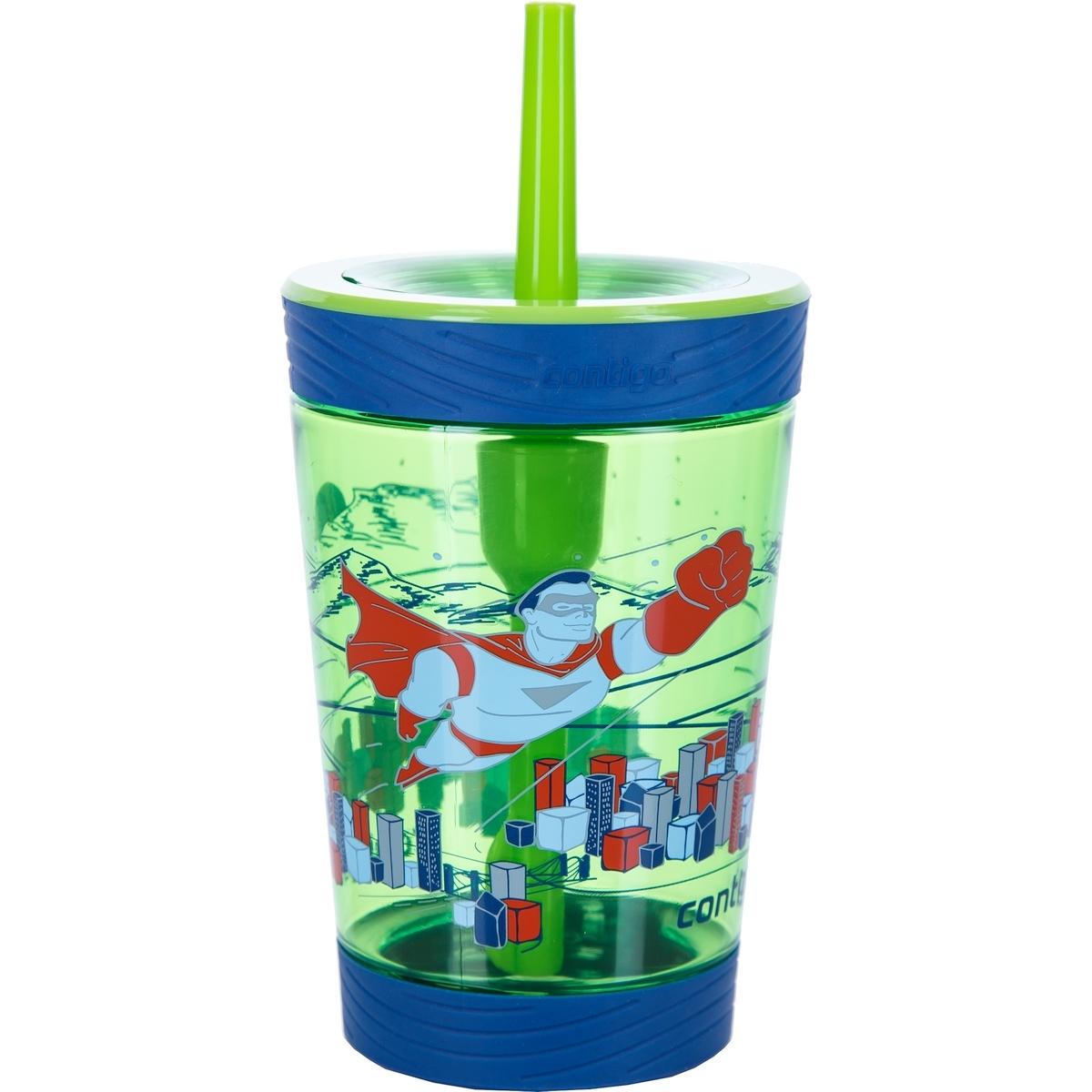 Детский стакан для воды с трубочкой Contigo Spill Proof Tumbler (0.42 литра), зеленый